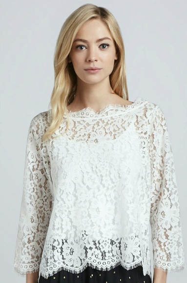 8996f308d80df Joie Tops - Joie Elvia Lace Blouse